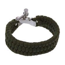 7 Strand Survival-Militaer Weave Armband-Schnur Schnalle - gruen F8G3