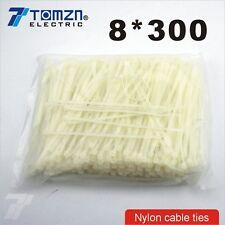100pcs 8mm*300mm Nylon cable ties
