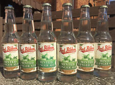 Red Ribbon Minted Ginger Ale 12 BOTTLES - Natrona Bottling Co. - Pittsburgh PA