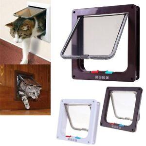 Katzenklappe Katzentür 4 Wege kleine Hundeklappe Haustierklappe Haustier Tür