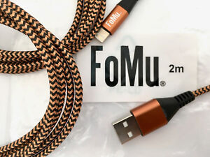 FoMu Quality iPhone Cable Braided (Pack of 3) 2m Top Quality UK Seller