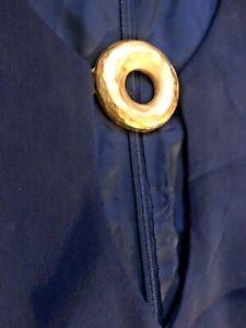 vintage 90's Navy Blue Silk Gold Torque Fitted Geek Pencil Maxi Dress