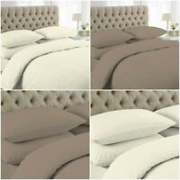200TC Luxury Plain Dyed Duvet Cover 100% Egyptian Cotton  Bedding Set All Sizes