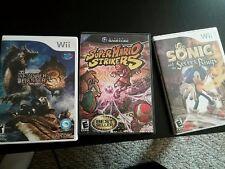 Super Mario Strikers + Sonic + Monster Hunter Game Bundle Set of 3 games