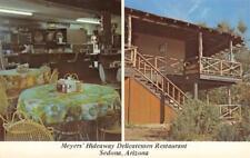 Meyers' Hideaway Delicatessen Restaurant Sedona, AZ Roadside ca 1960s Postcard