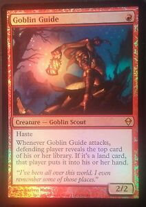 Guide Gobelin PREMIUM / FOIL - English Goblin Guide Zendikar - Magic mtg -