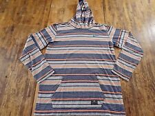 NIKE L/S Multicolor Striped Hoodie Running Sweatshirt Size XL