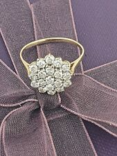9ct.Gold Cluster Ring Full Hallmarked Size R Excellent