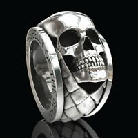 'IN THE BELLY OF THE BEAST' Hip Hop Men's Stainless Steel Skull Punk Gothic Ring