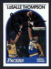 LaSalle Thompson #281 signed autograph auto 1989 Hoops Basketball Trading Card