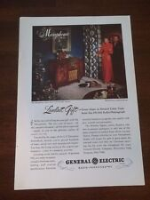 1951 VINTAGE 10X7 PRINT AD FOR GE GENERAL ELECTRIC MUSAPHONIC RADIO PHONOGRAPH