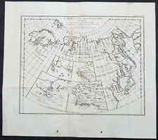 1772 Robert De Vaugondy Antique Map of NW America Alaska, California & NE Asia
