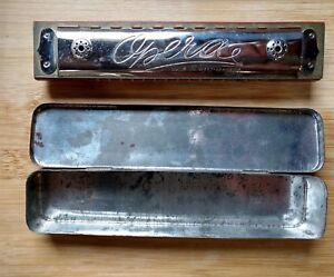 Harmonica by Opera in Original Tin Case Vintage made in West Germany US Zone