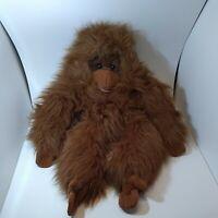 "Large Folkmanis Orangutan Hand Puppet - (28"" long) Brown Shaggy Monkey Ape"