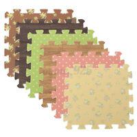 9X Foam Tiles Floor Mat Assemble Gym Exercise Yoga Children Play Pads Wood Grain