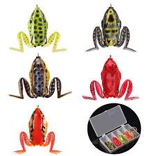 5pcs резиновая лягушка мягкая верховодки рыболовная приманка мягкая приманка змееголов бас 16.4g 57 мм