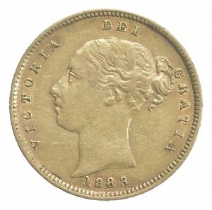 1883 1/2 Sovereign - Victoria - Great Britain Gold Coin *404