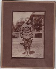 Antique Cabinet Card Photograph Military Man in Uniform Paterson N.J.
