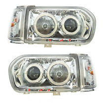 HEAD LIGHT (ANGEL EYES LED) + CORNER LAMP  for NISSAN PATHFINDER R50 1995 -1998