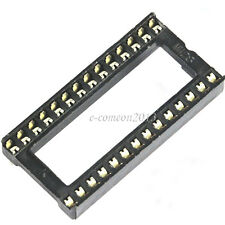 New 20PCS 28 Pin DIP 28 pins wide IC Sockets Adaptor Solder Type Socket