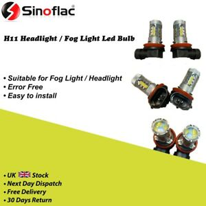 set of 2 pcs h11 led bulb suitable for fog light super bright