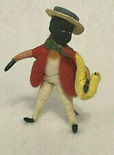 Black German Saxophone Cotton Christmas Vintage Ornament