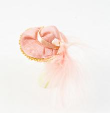 Puppenhaus Pink Hut mit Feder & Schleife Hutmacher Laden Damen Zubehör