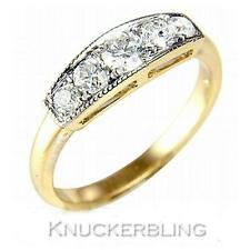 Genuine Diamond 5 Stone Milgrain Set Ring 0.50ct Brilliant Cut F VS 18ct Gold
