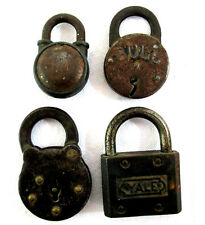 Lot of 4 Vintage Locks Yale, Ironsides, Bull & 101 Brands Metal with NO KEYS