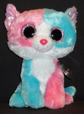 """TY BEANIE BOOS - FIONA the CAT (JUSTICE STORE) - 9"""" BUDDY SIZE - MINT TAG - NEW"""