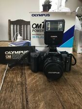 Olympus OM 101 Power Focus 35mm Film SLR Camera With Case and 50mm Lens
