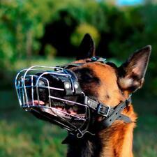 Belgian Malinois Basket Muzzle   Wire Cage Dog Muzzle for Malinois