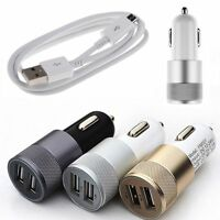 Chargeur Voiture Allume Cigare Double 2 Ports USB 3.1A + Câble pour Smartphones