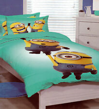 Kids Boys Girls Despicable Me The MINIONS SINGLE Duvet/Doona/Quilt Cover SET