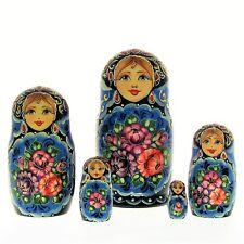 5 Poupées russes H12 Matriochka peint main signé Nested Doll Matrioshka Gigognes