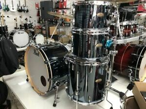 Pearl Session Studio Select Drum Set 4-piece Shell Pack BLACK MIRROR CHROME