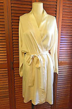 Victoria's Secret VTG Ivory 100% Silk Intimate Bridal Robe Tie Medium Large EUC