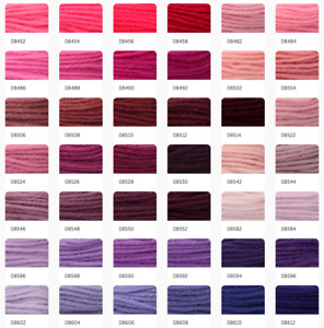 Anchor Coats Tapisserie Needlepoint Tapestry Wool - 10m Hanks Skeins 8452-8612