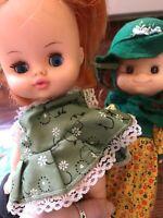 "Two VINTAGE Irish Dolls 8"" Horseman Doll 1971"