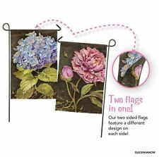 Royal Garden Forever Flag Flowers Evergreen Presents Suede Feel Reflections