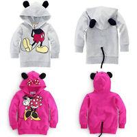 Toddler Kids Girls Boys Minnie Mouse Hoodies Hooded Jacket Coat Sweatshirt Tops