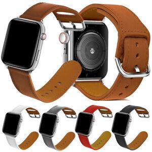 ✅ Apple Watch iWatch Armband SE 6 5 4 3 2 Lederarmband Strap Pastell Farben ✅
