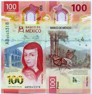 Mexico 100 Pesos 2020 P 131 a Polymer Butterfly UNC