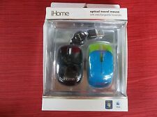 iHome Optical Travel Mouse with Interchangeable Faceplates NEW IN BOX!!