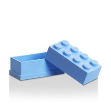 LEGO mini 8 plots boîte à dragées, bonbons, baptême Bleu ciel, Light blue Box