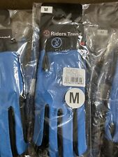 Women's Riders Trend Every Day Equestrian Riding Gloves Blue Size Medium