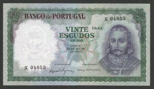 Portugal - 20$00 Ch.6A D. Antonio Menezes ( 26/07/1960) - UNC