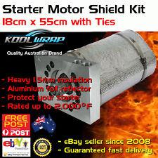 Ford Windsor STARTER MOTOR HEAT SHIELD Blanket Insulating Kit Stainless Ties