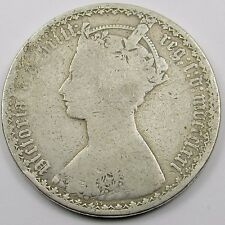 QUEEN VICTORIA SILVER GOTHIC FLORIN/ TWO SHILLINGS dated mdccclxxi  - 1871