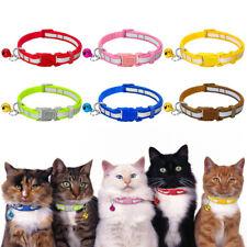 6pcs/Lot Break Away Cat Collars Pet Cat Puppy Buckle Nylon Collar with Bell
